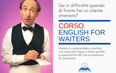 """Iscrizioni aperte per il corso intensivo di inglese per camerieri di sala """"English for Waiters"""""""
