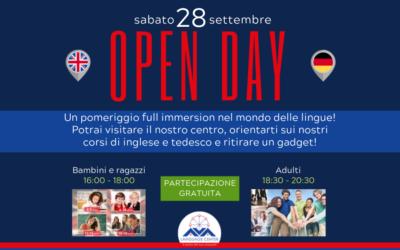 Sabato 28 settembre 2019 ti aspettiamo al nostro Open Day!